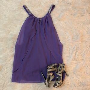 Hailey Logan Purple Dress